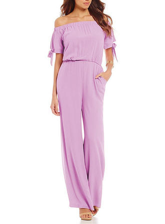 Solid Off-the-Shoulder Maxi