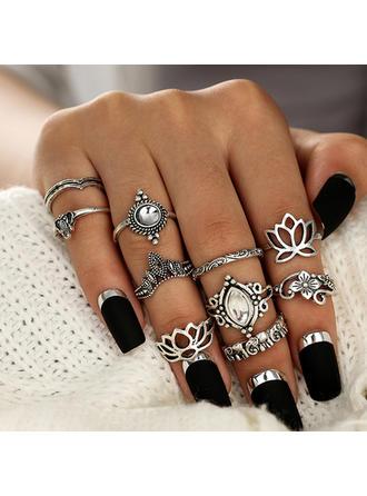 Divatos Ötvözet Akril -Val Akril Női divat gyűrűk (10 pár készlet)