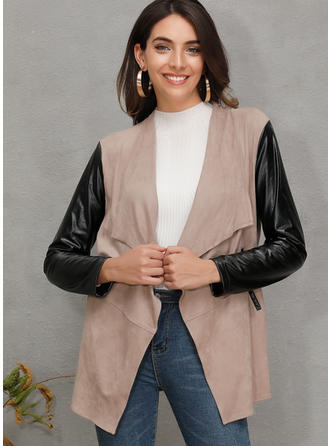 Long Sleeves Patchwork Cardigans