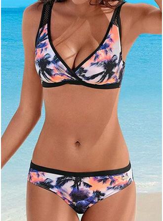 Imprimé À Bretelles Décontractée Bikinis Maillots De Bain