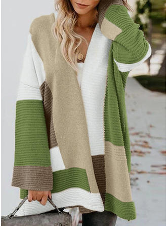 Color Block Ribbed Chunky knit Sweaters