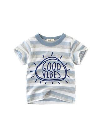 Bébé & Bambin Garçon Lettre imprimée Coton T-shirt