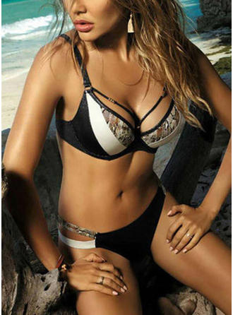 Low Waist Splice color Strap V-neck Sexy Fresh Attractive Bikinis Swimsuits
