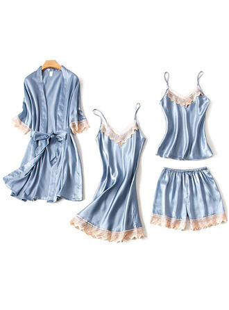 Silk Lace Slip Robe