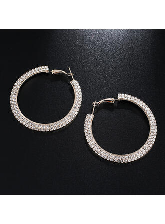 Brillante lega Strass Orecchini (Set di 2)