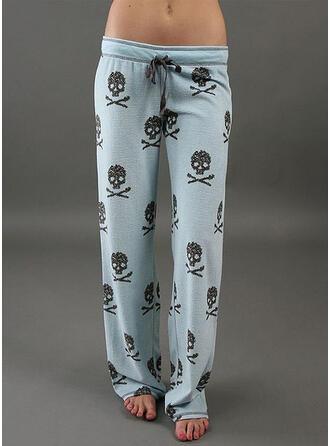 Imprimé Longue Décontractée Longue Sportif Imprimé Pantalon