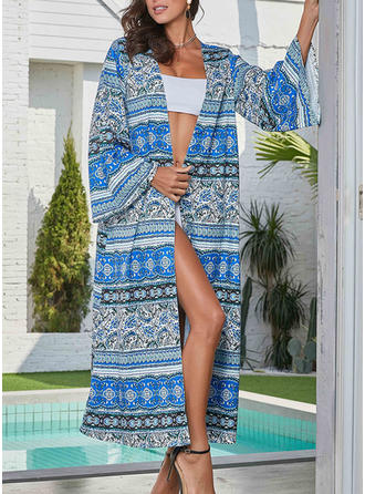 Tropical Print Bohemian Cover-ups Swimsuits