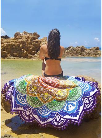 Floral Énorme/rond/attrayant serviette de plage
