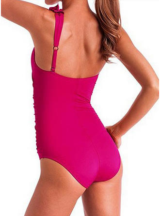 Solid Color One-Shoulder Sexy One-piece Swimsuits