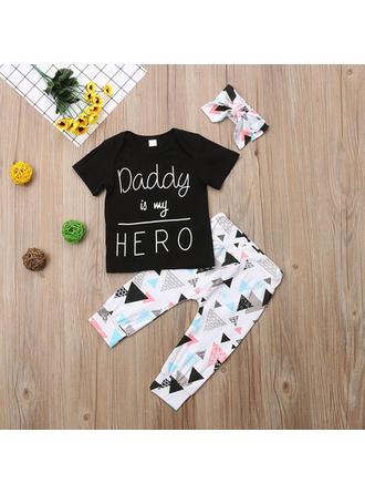 Bébé & Bambins Lettre imprimée Coton Pantalon,Bandeau,T-shirt Définir La Taille