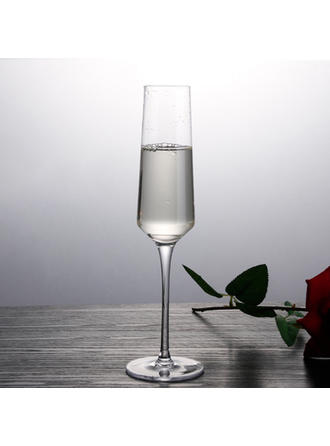 Classic Glass Champagne Glasses (Set of 2)