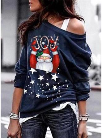 Poliester Wydrukować Świąteczna bluza