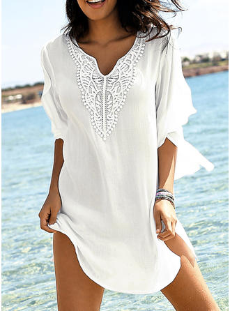 V-neck Elegant Fashionable Classic Cover-ups Swimsuits