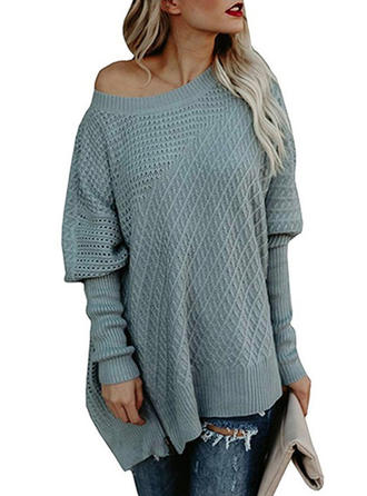 Solid Chunky knit Off the Shoulder Sweater Dress