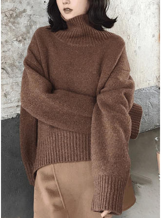Bawełna Golf Jednolity kolor Swetry
