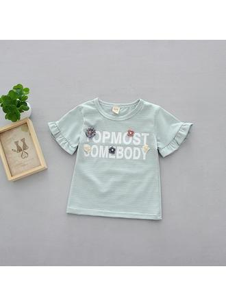 Bébé & Bambin Fille Lettre imprimée Coton T-shirt