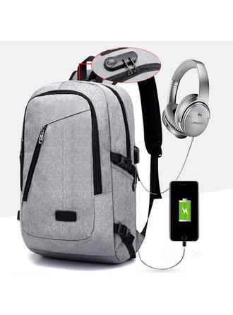 Multi-functional Oxford Coded Lock USB Interface Charging Earphone Hole Backpacks