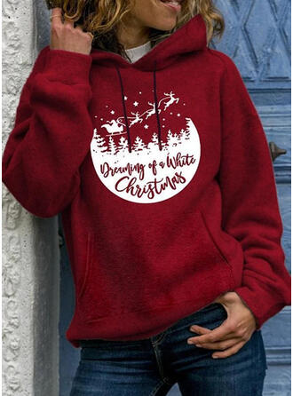 Dyr Figur Lange ærmer Jule sweatshirt