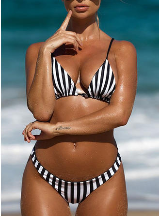Stripe Strap Fashionable Bikinis Swimsuits