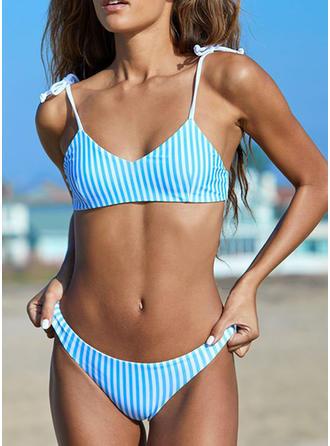 Stripe Strap Classic Bikinis Swimsuits