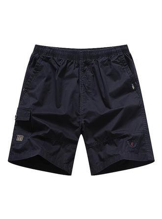 Mænd Solid Color Board shorts