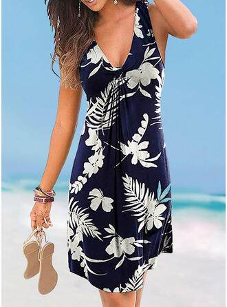 Floral Strap V-Neck Cover-ups Swimsuits
