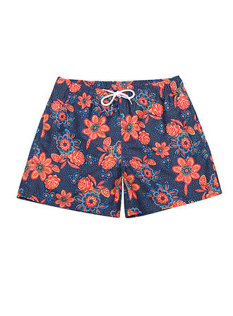 Men's Floral Lined Swim Trunks