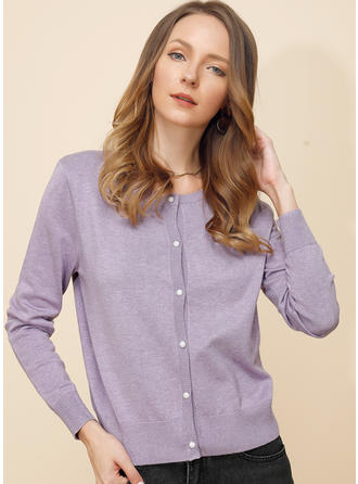 Viscose Long Sleeves Solid Ribbed