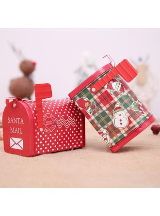 Feliz Navidad Bolsa de regalo Metal Tarros de caramelo