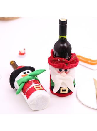 Feliz Navidad Monigote de nieve Papa Noel Tela no tejida Tapa de la botella
