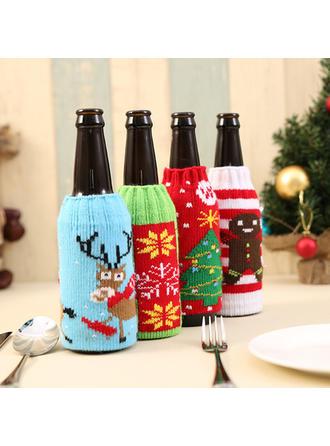 Feliz Navidad Tejido Tapa de la botella