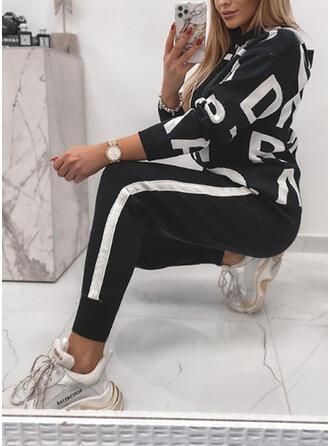 Levél Ριγέ Minta Επιδεικτικός Ανέμελος Plus μέγεθος sweatshirts & Ρούχα Δύο Κομματιών Set ()
