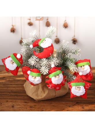 Feliz Navidad Papa Noel Colgando Tela Adornos colgantes de árboles