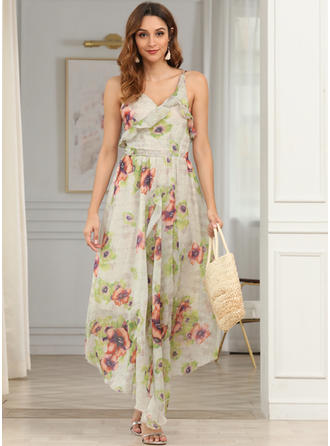 Print/Floral Sleeveless A-line Maxi Sexy/Casual/Boho/Vacation Dresses