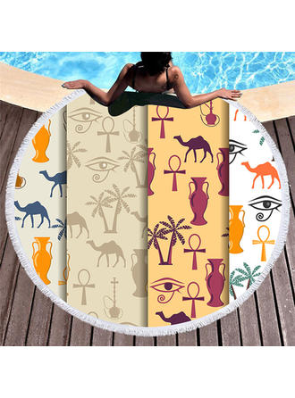 Retro/Vintage/Animal Oversized/round Beach Towel