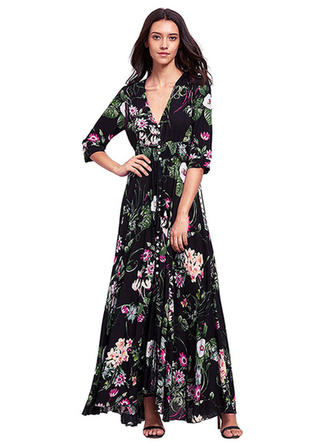 Long Sleeves Maxi Dresses