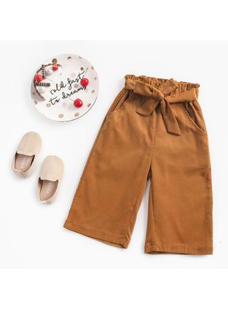Bébé & Bambin Fille Solid Coton Pantalon