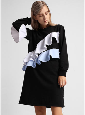 Polyester Patchwork Sweat-shirts
