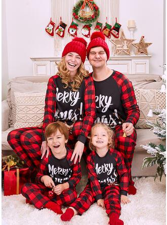 Північний олень Καρό Γράμμα Εκτύπωση Для сім'ї Різдвяні піжами