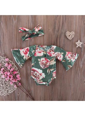 Bébé & Bambin Fille Imprimé floral Coton Barboteuse,Bandeau Définir La Taille