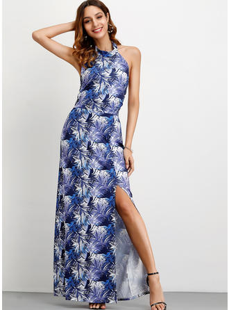 Print Sleeveless A-line Maxi Sexy/Casual/Vacation Dresses