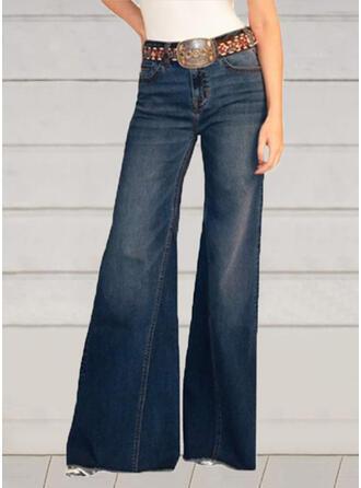 arricciato Taglia grossa Elegante Sexy Vintage Denim & Jeans