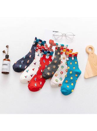 Női boldog Karácsonyt Hóember Rénszarvas Télapó Pamut Harisnya Karácsonyi zokni