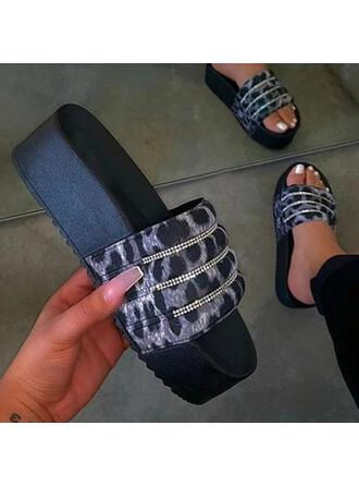 De mujer plástica Tacón plano Pantuflas zapatos