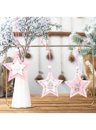 Feliz Navidad Colgando De madera Colgante de navidad Adornos colgantes de árboles