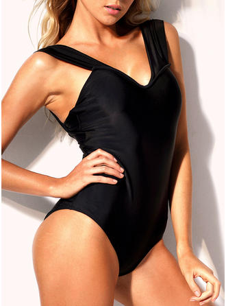 Solid Color Strap Sexy Attractive One-piece Swimsuits