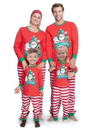 Weihnachtsmann Rentier Schreiben Gestreift Passende Familie Christmas Pajamas