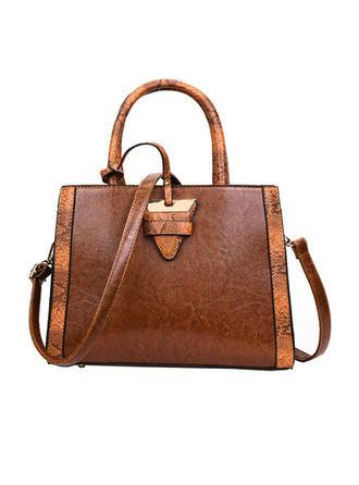 Elegant/Woon-werkverkeer/Splice kleur Tote tassen/Crossbody Tassen