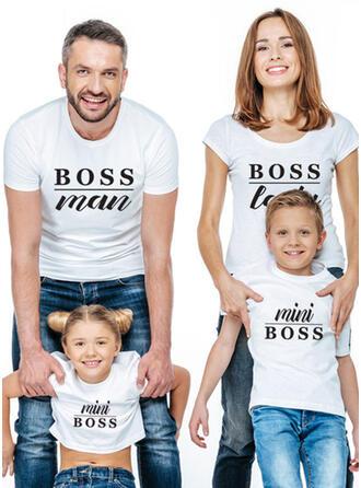 List Wydrukować Rodzinne Dopasowanie T-shirty