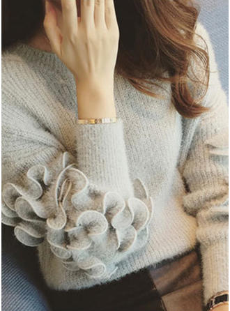 Mohair Turtleneck Plain Sweater